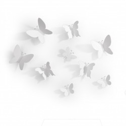 UMBRA MARIPOSA WALL DECOR SET 9 PZ WHITE