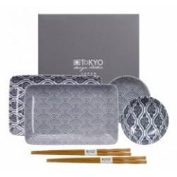 TOKIO DESIGN STUDIO SET CIOTOLE+CHOPSTICK FOR TWO NIPPON BLUE