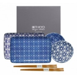 TOKYO DESIGN STUDIO SET CIOTOLE+CHOPSTICK FOR TWO NIPPON BLUE