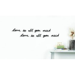 UMBRA MANTRA LOVE WALL DECOR BLACK