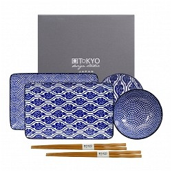 NIPPON BLUE SET SUSHI X 2 TOKIO DESIGN STUDIO