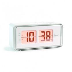 BALVI OROLOGIO-SVEGLIA FLIP LCD BIANCA