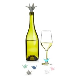 UMBRA ORIGAMI WINE CHARMS & TOPPER
