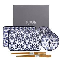 TOKYO DESIGN NIPPON BLUE SET SUSHI WAVE/STAR