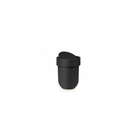 UMBRA STEP WASTE CAN WITH LID NERO