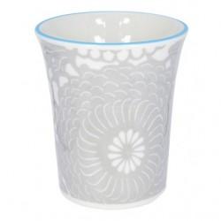 Mug senza manico decoro Crisantemo blu, serie Shiki di Tokio Design Studio
